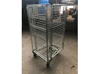 Nestable Roll Containers - Mesh Sided. Trolleys on wheels. Cages. Post office trolleys.