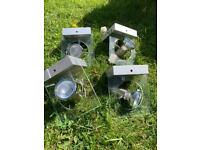 Spot lights with glass frame & matching side lights