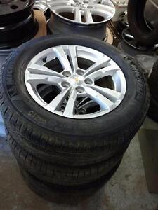 Brand New takeoffs 225 65 17 Michelin Latitude tires on OEM Chevy Equinox / GMS Terrain alloys 5x120