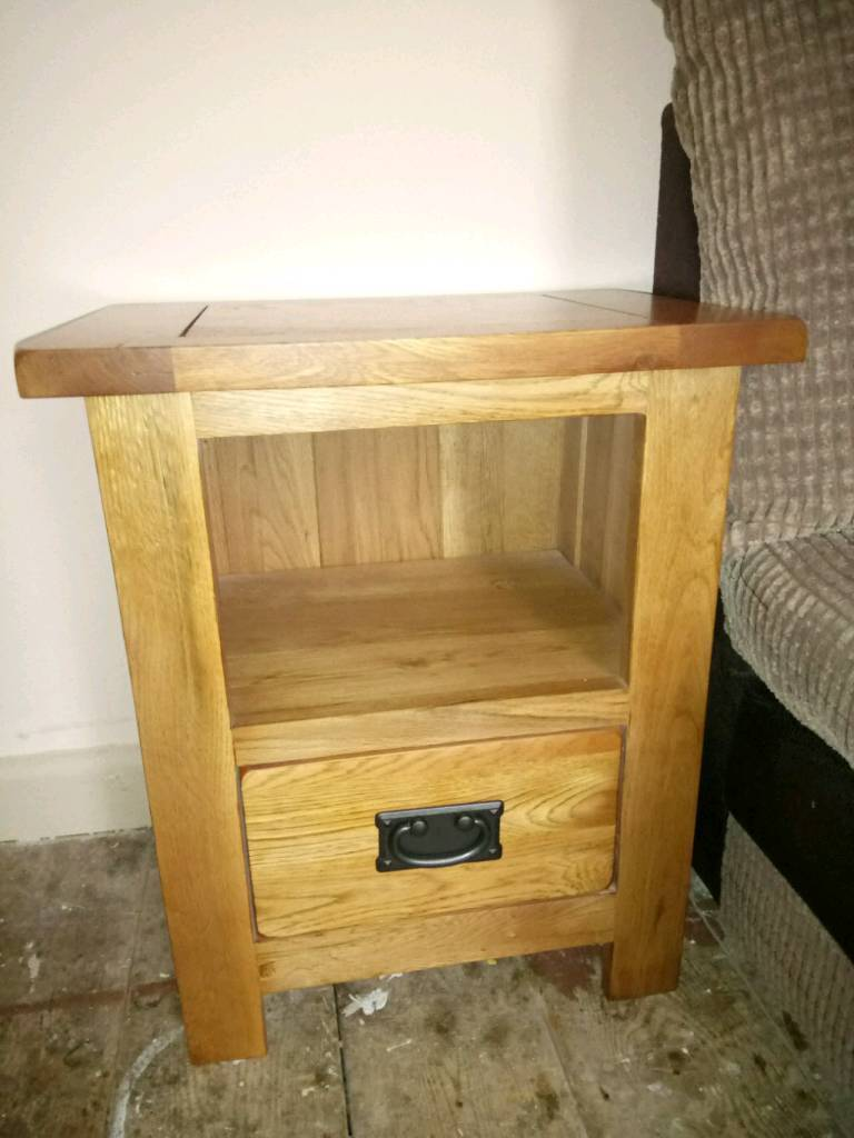 Real Wood Bedside Table