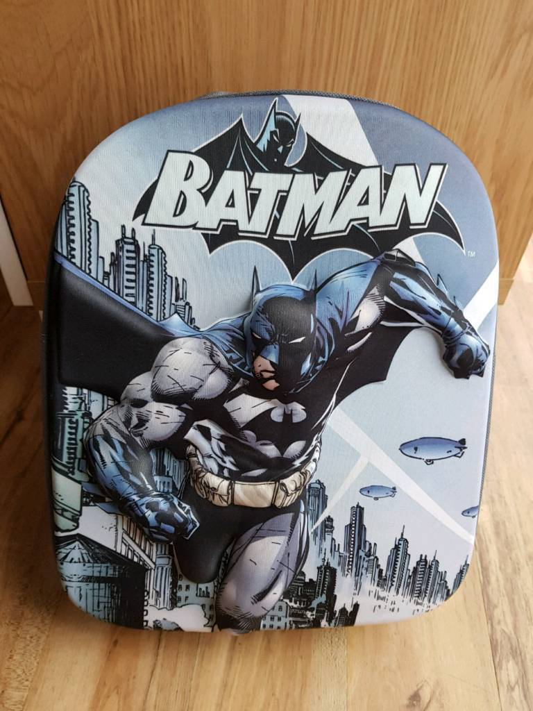 ccf2a40a9d Kids 3D Batman Rucksack Backpack Bag BRAND NEW