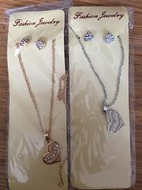 Various necklace and earrings sets £4 each