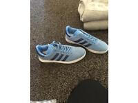 Sky blue Adidas gazelles size 7