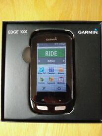 Garmin Edge 1000 Performance Bundle (Bike Cycle GPS Computer)