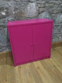 Tenzo pink 2 door sideboard cabinet Tv unit cup