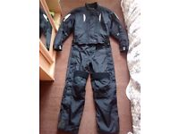 Frank Thomas one piece motorcycle suit - Size Large.