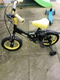Bike black and yellow