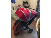 Double Baby Jogger city mini GT with carrycot