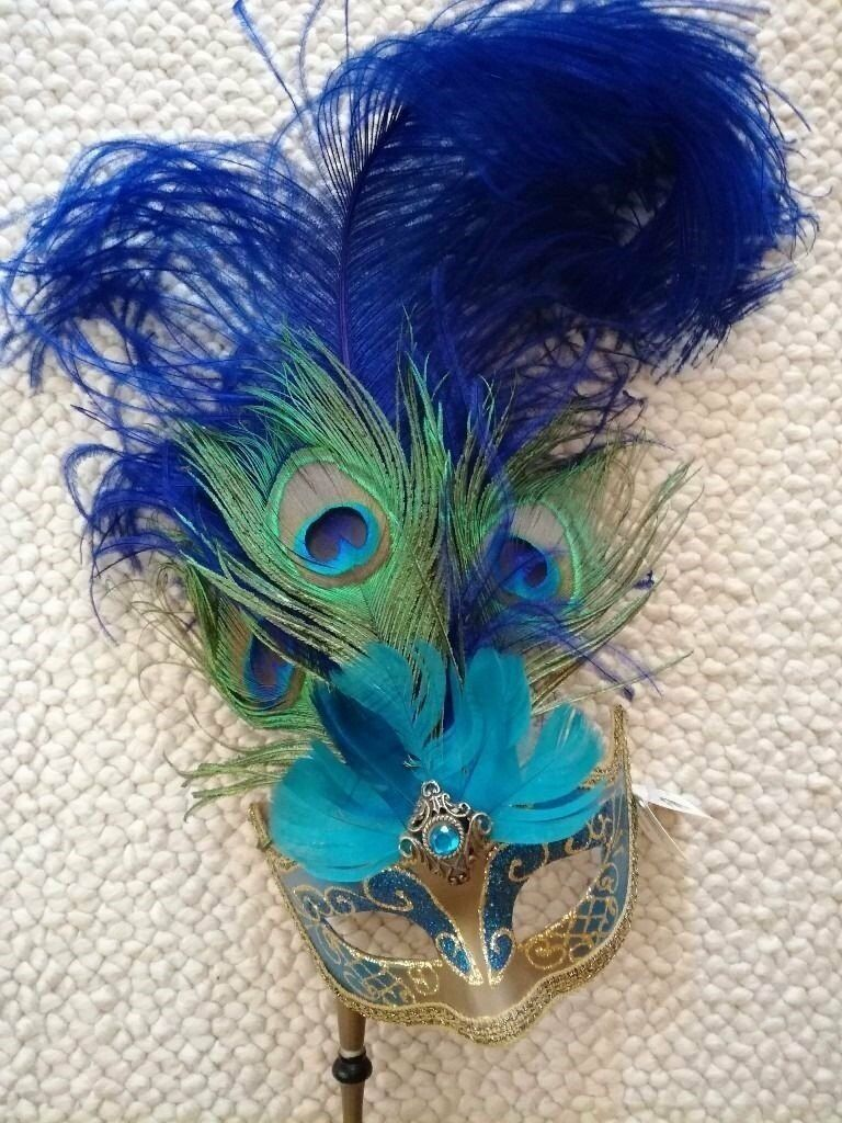 Venetian Mask Masquerade Italian Machera Del Galeone Turquoise