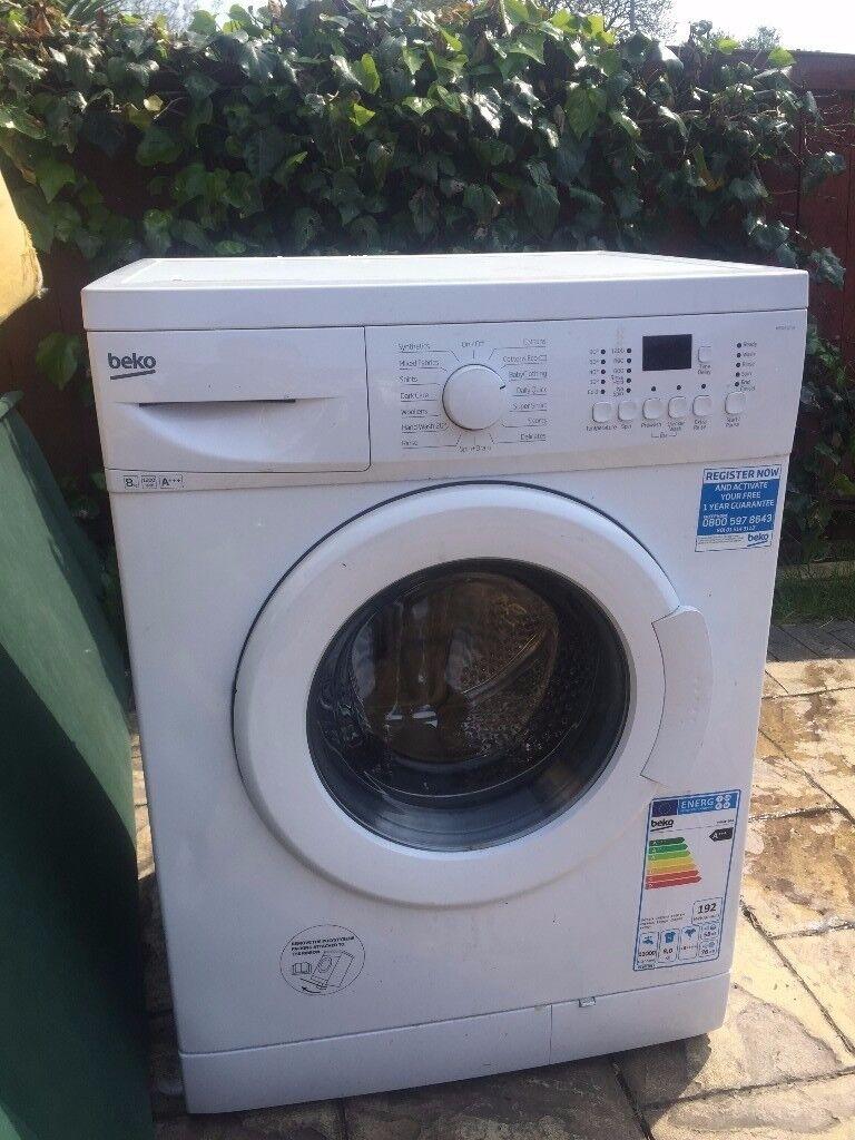 BEKO 8kg 1200rpm Washing Machine WM84125 *EXCELLENT USED CONDITION* Fully Works