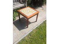 G Plan Reto Teak And Tiled Lamp Coffee/Side Table