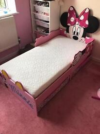 Mini bed with storage and mattress