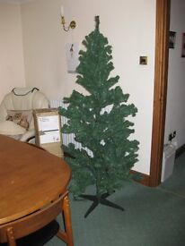 artificial christmas tree - boxed and with instructions