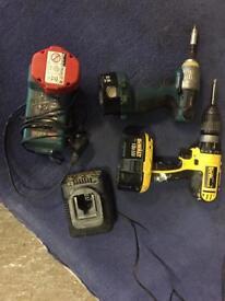 Makita 14.4 v impact and 18v hammer drill