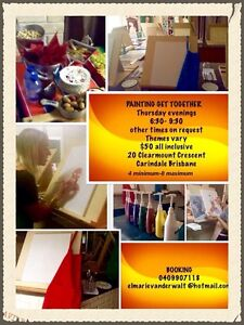 Painting get together Carindale Brisbane South East Preview