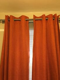 Next orange curtains