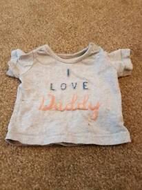 M&S baby boy t shirt 0-3 months