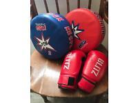 Ju jitsu punch pads and gloves