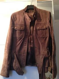 Real suede jacket size 8/10