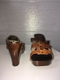 Women's brown heels