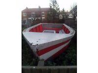 Grp boat 21 ft length 7 ft wide