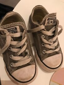 Size 7 infants converse grey
