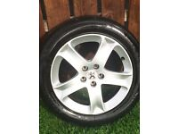 407 ALLOYS WITH FOUR AS GOOD AS NEW TYRES RIMS IN GREAT CONDITION QUICK SALE AT ONLY £200