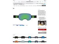 New unused dragon goggles. X2 Jet Green Ionized £110