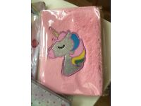 Unicorn perfect set for a little girl at school
