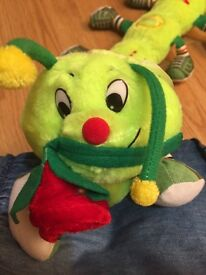"""ADORABLE CATERPILLAR - SOFT TOY WITH """"LOVE YOU"""" (NEVER USED)"""