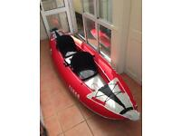 Used only 3 times. 1 or 2 man kayak z-pro Tango TA200 in red.