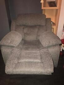 2 seater and recliner Grey