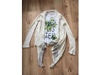 Women's bundle o clothing including a Hollister top and CROPP cardigan