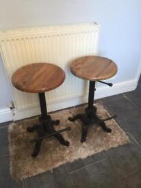 Cast iron bar stools