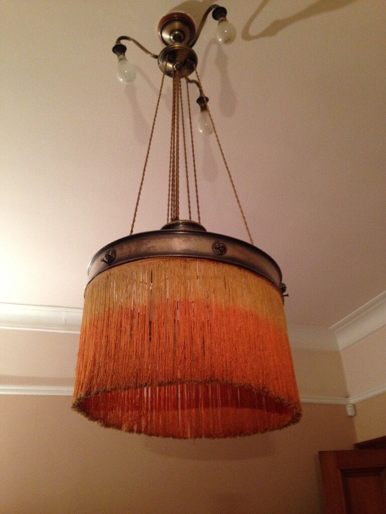 Victorian Dining Room Light Fitting With Rise And Fall Feature