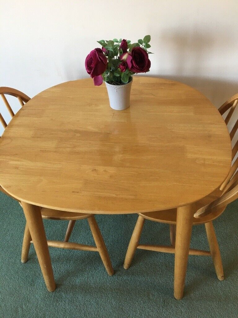 Small Dining Table And Two Chairs Pine In York North