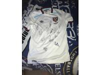 Signed West Ham shirt