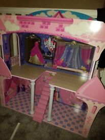 Girls large doll house with furniture ideal for barbie