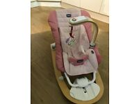 Chicco I-Feel Baby Rocker - Rose - Excellent Condition