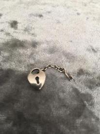 PANDORA silver heart lock & key charm