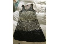 Prom, party, cruise dress, sequins, shift, Phase Eight, size 10,