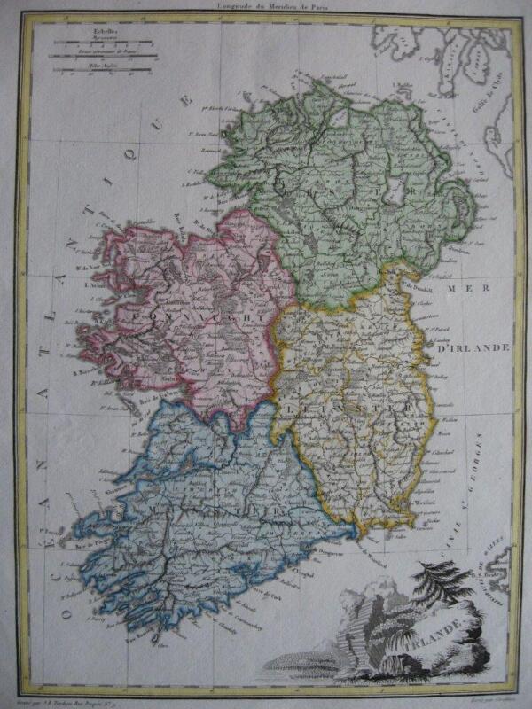 1812 LAPIE - Map IRELAND