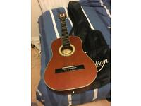 Half size Spanish guitar with case