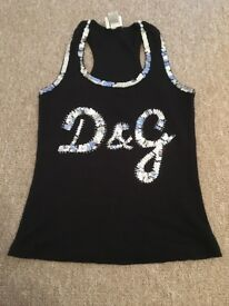 D&G Sparkly Vest Top
