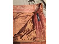 Burberry brown leather trousers