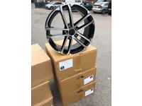 "4 18"" alloy wheels alloys rims Tyres to fit vw Volkswagen seat Skoda Audi 5x112 caddy golf"