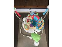 SOLD Fisher Price jumperoo jungle jumping baby toy fun music