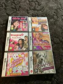 6 x girl Nintendo ds games