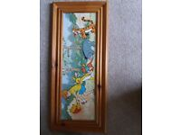 Winnie The Pooh Pine Framed Picture
