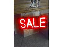 electric led flashing sale sign